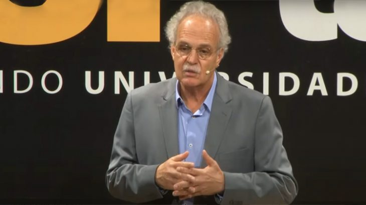 Carlos Nobre during presentation at USP Talks (Reproduction/Canal USP)