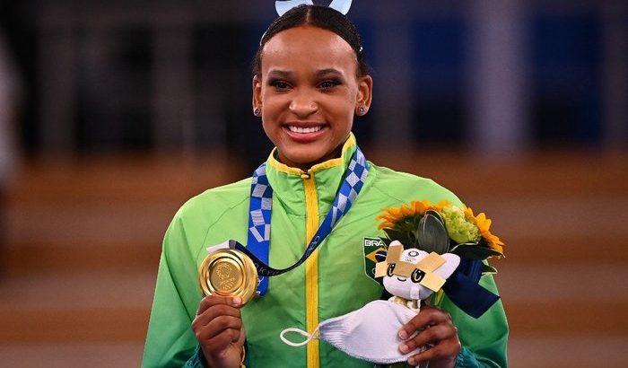 A vitória rendeu um belo discurso da ex-ginasta Daiane dos Santos (Reprodução/Loic VENANCE / AFP)