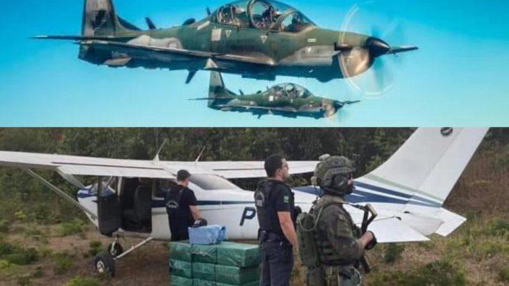 O voo clandestino entrou na mira da FAB  na divisa entre os municípios de Machadinho D'Oeste (RO), que fica a quase 300 quilômetros de Porto Velho, e Colniza (MT). (Fotos: Polícia Federal)
