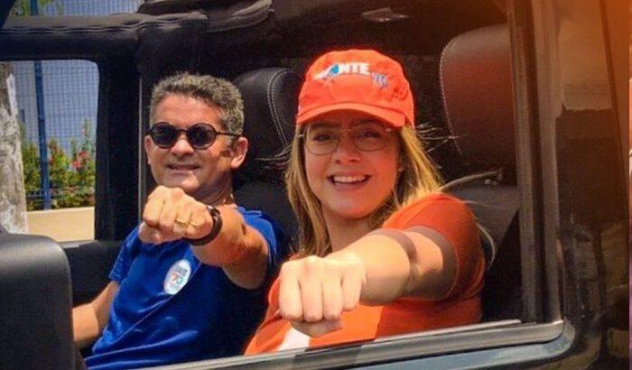 David Almeida e a filha Fernanda Aryel: sonho da casa própria alcança família da filha do prefeito (Avante)