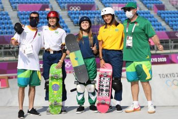 Atletas do Skate Park (CBSK/Julio Detefon)