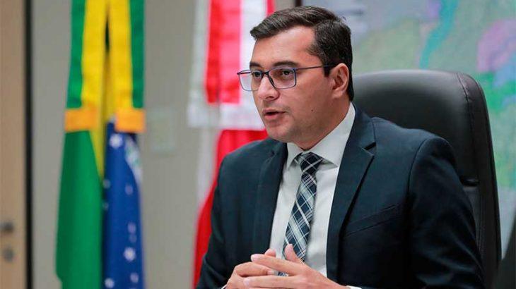 O governador do Amazonas Wilson Lima (PSL) comentou, na manhã desta quarta-feira, 4, a troca dos secretários estaduais de Segurança Pública e Educação (Foto: Diego Peres/Secom)