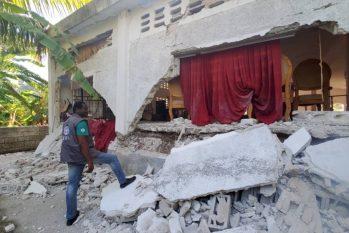 Muitas famílias perderam tudo com terremoto que atingiu o Sudoeste do Haiti ( foto: Ascom/ADRA)