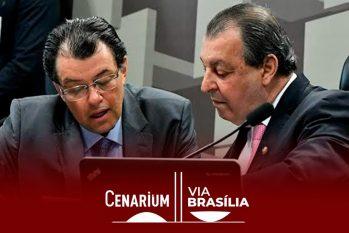 Eduardo Braga à esquerda e Omar Aziz à direita, ambos senadores amazonenses integrantes da CPI (Geraldo Magela/Agência Senado)
