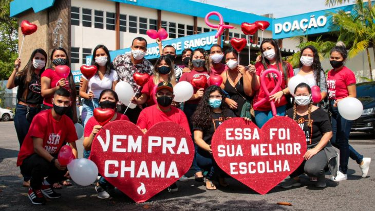 A campanha realizou as coletas neste sábado, 14, na sede do Hemoam (Divulgação)