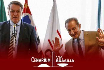 Na foto, Jair Bolsonaro e Paulo Skaf, presidente da Fiesp há 17 anos (Miguel Schincariol/Getty Images )
