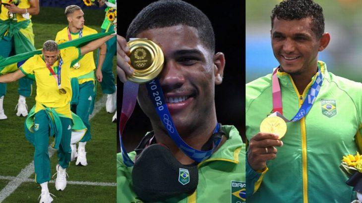 Os ouros do Brasil neste sábado: futebol, boxe e canoagem (Divulgação/O Globo)