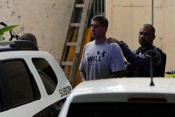 Ronnie Lessa deixa a DH para uma audiência de Custódia (Pablo Jacob/Agência O Globo)