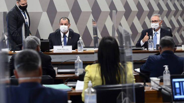 Sessão da CPI da Covid, no Senado (Marcos Oliveira/Agência Senado)