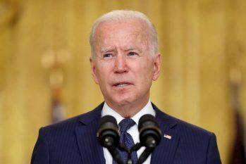 O presidente americano Joe Biden em pronunciamento na Casa Branca após o atentado no aeroporto de Cabul (Jonathan Ernst/Reuters)