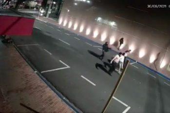Imagens do assalto em Araçatuba, cidade do interior paulista, na madrugada desta segunda-feira (Reprodução)