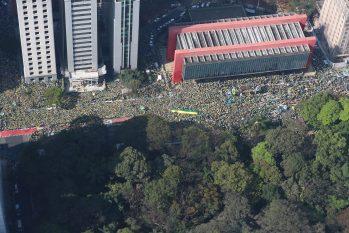 Em São Paulo, apoiadores de Bolsonaro comemoram  Dia da Independência (Isac Nóbrega/PR)