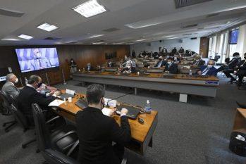 Sessão da CPI da Covid, no Senado Federal (Reprodução/Metrópoles)