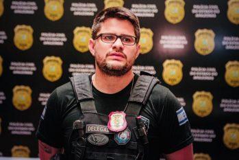 Delegado Guilherme Torres, da Especializada em Combate à Corrupção (Deccor) falou sobre a operação. (Divulgação)