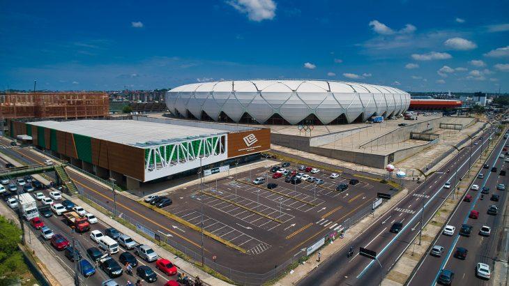 Vista aérea do Centro de Convenções Vasco Vasques. (Clóvis Miranda)