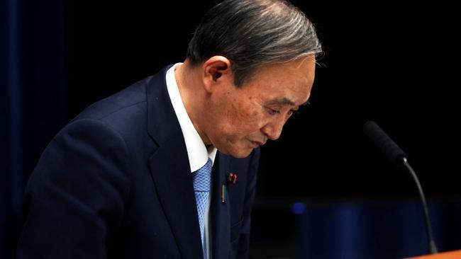 Yoshihide Suga registrava alta impopularidade, impulsionada pela oposição japonesa à Olimpíada(Reprodução/ AFP)