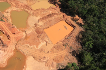 Image obtained during a Federal Police operation against illegal mining in indigenous lands in Pará, in August 2021 (Reproduction/Polícia Federal)