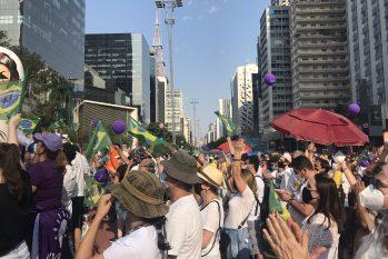 Manifestantes tomaram a Avenida Paulista contra o Governo Bolsonaro. (Wesley Diego/ CENARIUM)