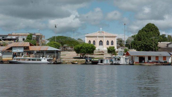 Vista da orla do município de Manaquiri, a 60 quilômetros de Manaus (Divulgação)