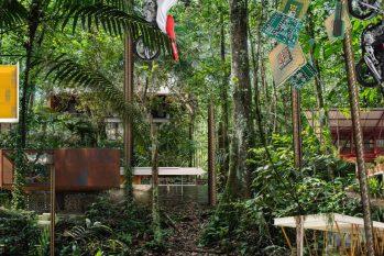 Exposição Arquitetura Resiliente na Amazônia foi um dos três projetos do Brasil aceitos para participar da Bienal (Imagem fictícia - Resilient Amazon Architecture© NAMA)