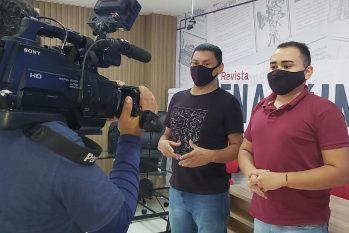 Os acadêmicos trocaram experiências sobre a rotina da redação jornalística (Priscilla Peixoto/CENARIUM)
