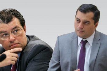 O senador Eduardo Braga e o governador Wilson Lima (Arte: Catarine Hak/ Revista Cenarium)