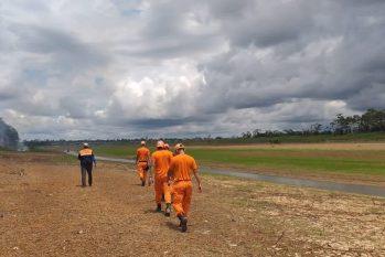 A seca do Rio Solimões já atingiu as comunidades localizadas na ilha fluvial de Bom Intento, em Benjamin Constant (Divulgação)