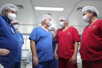 Governador do Amazonas, Wilson Lima e ministro da Saúde, Marcelo Queiroga. (Tacio Melo/ Secom)