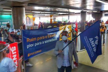 Servidores públicos realizam mobilizações em Brasília e outras cidades. (Divulgação/ ANFIB)
