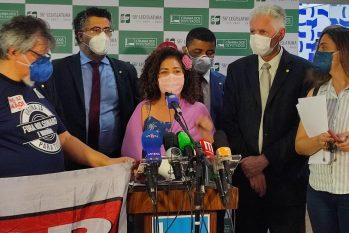 Líderes de oposição como a deputada Perpétua Almeida (PCdoB/AC) se posicionam contra a PEC 32 (Reprodução/Assessoria Perpétua Almeida)
