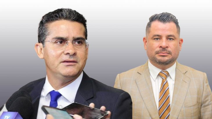 O prefeito de Manaus, David Almeida,  e o ordenador de despesas da Seminf, Valcerlan Ferreira Cruz (Catarine Hak/Cenarium)