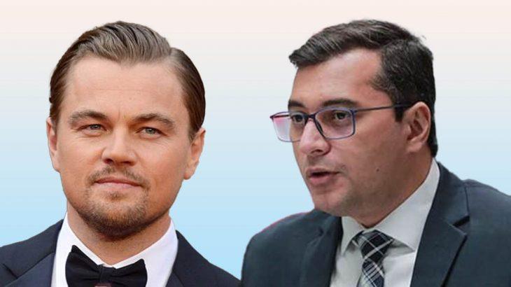 Ator Leonardo DiCaprio e governador do Amazonas, Wilson Lima. (Reprodução/ Internet)