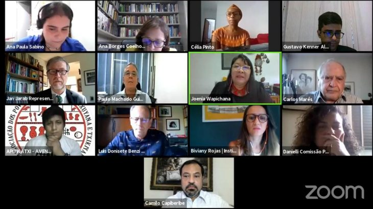 Seminário virtual trata sobre importância da consulta prévia aos povos originários (Reprodução/Internet)