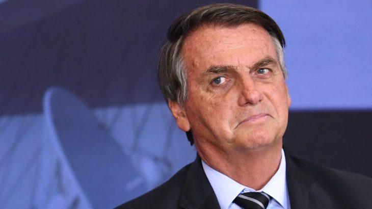 Bolsonaro em Brasília no Palácio do Planalto. (Evaristo Sá/ AFP)