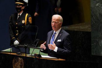 Presidente dos EUA, Joe Biden, faz discurso na Assembleia Geral da ONU (KEVIN LAMARQUE / REUTERS)
