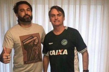 Léo Índio com Jair Bolsonaro. (Reprodução/ Instagram)
