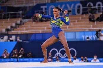 Rebeca Andrade durante apresentação nas Olimpíadas de Tóquio 2020 (Dylan Martinez/REUTERS)