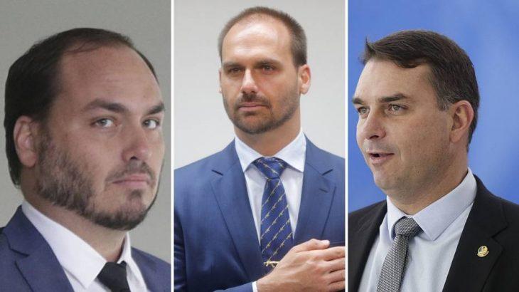 Comissão deve imputar crimes ao senador Flávio Bolsonaro, ao deputado Eduardo Bolsonaro e ao vereador Carlos Bolsonaro (Foto: Dida Sampaio/Estadão)