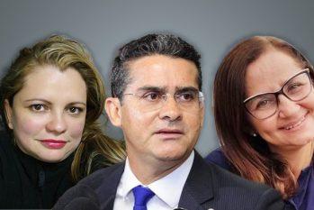 Ângela (à esquerda) ao lado do cunhado David Almeida. Ela e Rosa (à direita) receberam 'jeton' no salário (Ygor Fábio Barbosa/Cenarium)