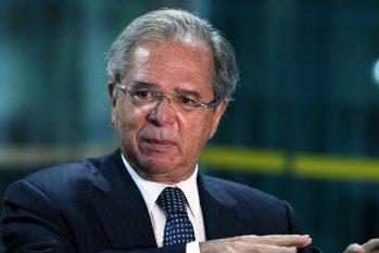 Paulo Guedes no Ministério da Economia em março (Edu Andrade/Ministério da Economia)