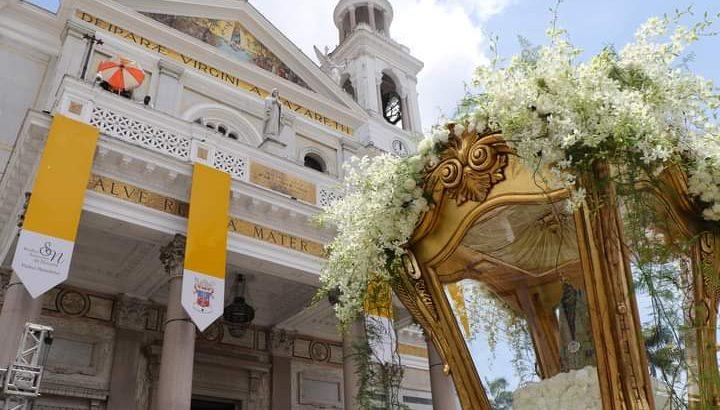 Image arrives at the Basilica of Nazaré, in Belém. (Ascom)