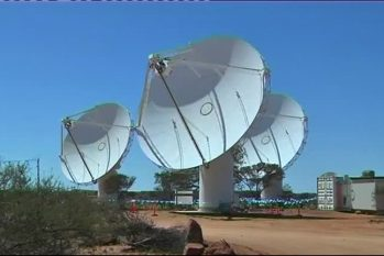 Radiotelescópio ASKAP, na Austrália. (Reuters)