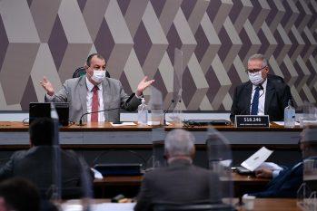 Presidente da CPI, Omar Aziz, e o relator, Renan Calheiros. (Divulgação/Agência Senado)