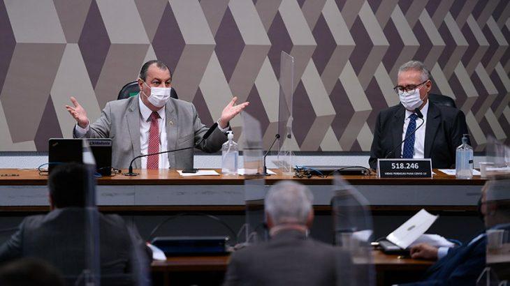 President of the CPI, Omar Aziz, and the rapporteur, Renan Calheiros. (Agência Senado/Promotion)