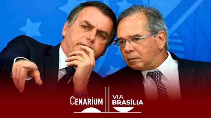 Bolsonaro e o ministro da Economia, Paulo Guedes. (Divulgação)