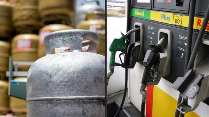Registro mostra botijão de gás e bomba de combustíveis. (Reprodução/ Internet)