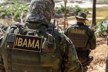 O Ibama realizou fiscalização no local após denúncia feita pelo Comitê Indígena de Roraima (Divulgação/Ibama)