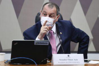 Senador Omar Aziz, presidente da CPI da Pandemia. (Reprodução/ O Globo)