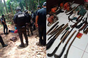A Operação Rio Nambu prendeu 17 pessoas e apreendeu materiais como motosserras (Reprodução/Polícia Civil)