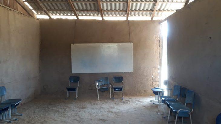 A escola foi construída por moradores na Comunidade Serra Do Sol, município de Uiramutã (Reprodução/Arquivo Pessoal)